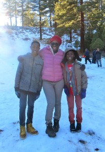 Queenkay and boys in Tahoe